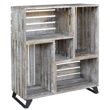 Bengal Manor Mango Wood Reclaimed Crates Bookcase