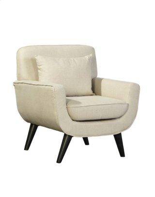 Mid Century Modern Linen Chair