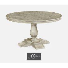 "55"" Circular Extending Dining Table in Rustic Grey"