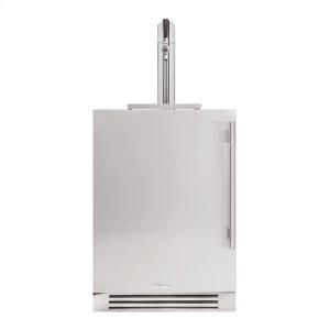 True Residential24 Inch Single Tap Solid Stainless Door Left Hinge Undercounter Beverage Dispenser