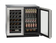 """36"""" Beverage Center Stainless Frame Double Doors"""