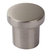 Chunky Round Knob Small 1 Inch - Brushed Nickel