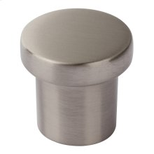 Chunky Round Knob Small 1 Inch - Brushed Nickel