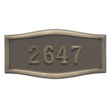 Large Roundtangle HouseMark ® Address Plaques