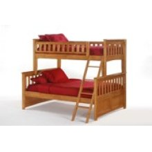 Ginger Twin Full Bunk in Medium Oak Finish