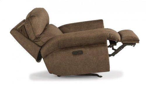 Langston Fabric Power Rocking Recliner with Power Headrest