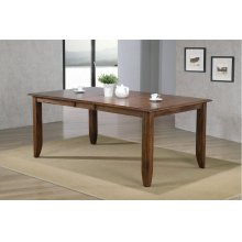 DLU-BR4272-AM  Extendable Dining Table  Amish Brown