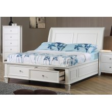 Selena Coastal White Twin Bed