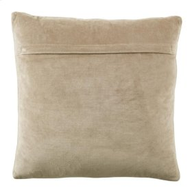 METALLIC HERRINGBONE COWHIDE PILLOW - White And Gold - White And Gold