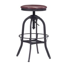Crete Barstool Burgundy & Antique Black Product Image