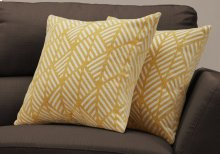 "PILLOW - 18""X 18"" / YELLOW GEOMETRIC DESIGN / 2PCS"