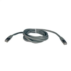 Cat5e 350MHz Molded Shielded Patch Cable STP (RJ45 M/M) - Gray, 25-ft.