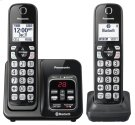 Link2Cell Bluetooth® Cordless Phone with Voice Assist and Answering Machine - 2 Handsets - KX-TGD562M Product Image