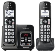 Link2Cell Bluetooth® Cordless Phone with Voice Assist and Answering Machine - 2 Handsets - KX-TGD562M