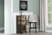 Tuscan Retreat® Basket Stand With Wire Front and Two Baskets - Case Sua Two Tone Wood Finish / Faded Product Image