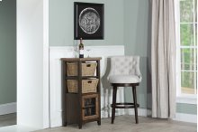 Tuscan Retreat® Basket Stand With Wire Front and Two Baskets - Case Sua Two Tone Wood Finish / Faded