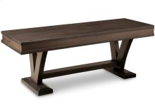 """Verona 48"""" Bench with Wood Seat"""