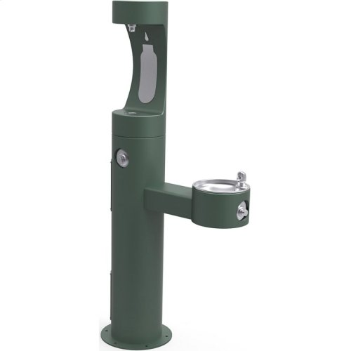 Elkay Outdoor ezH2O Bottle Filling Station Bi-Level Pedestal, Non-Filtered Non-Refrigerated Freeze Resistant