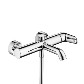 Polished Chrome Single lever bath mixer for exposed installation