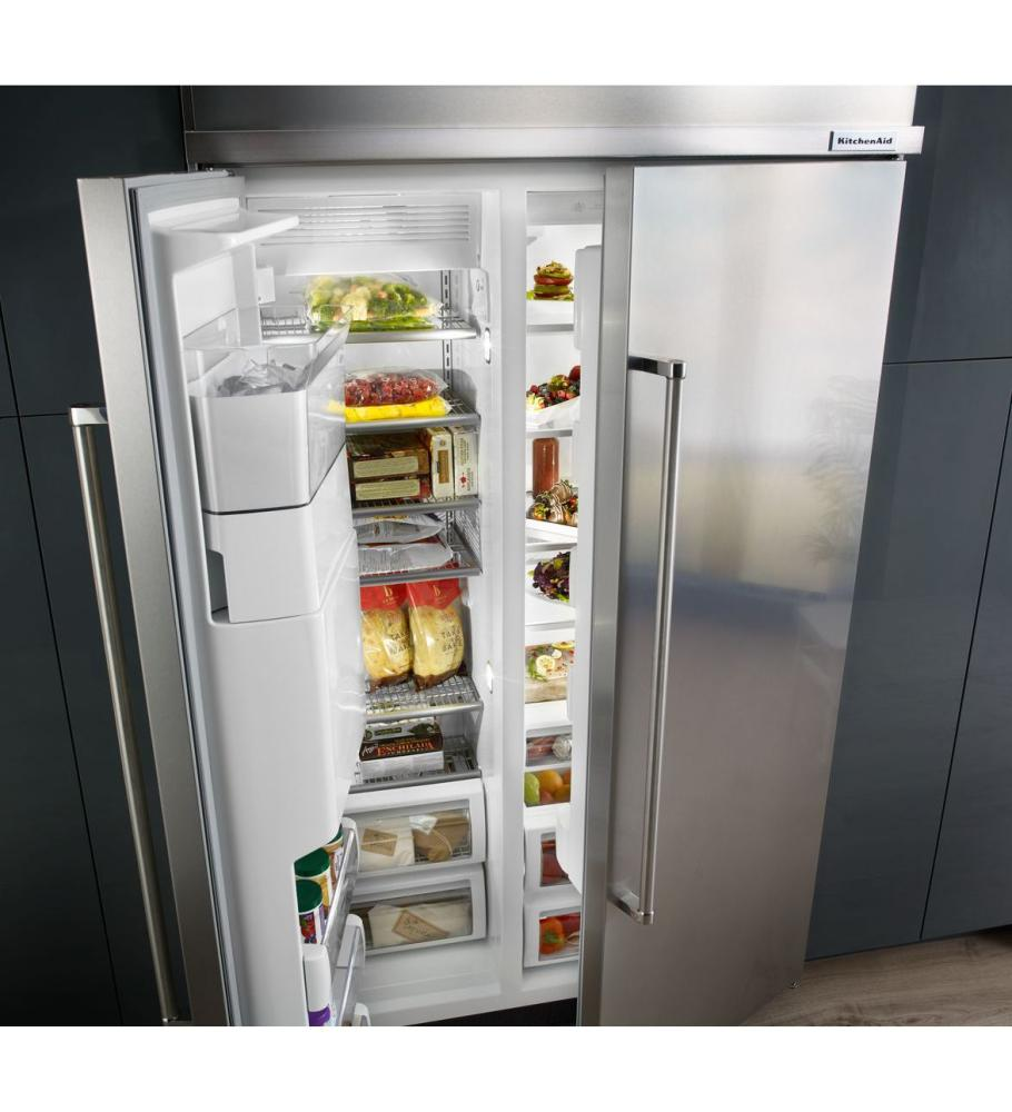 KITCHENAID 29.5 Cu. Ft 48 Inch Width Built In Side By Side Refrigerator