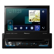 "1-DIN Multimedia DVD Receiver with 7"" WVGA Display, Apple CarPlay™, Android Auto™, Built-in Bluetooth®, SiriusXM-Ready™ and AppRadio Mode +"
