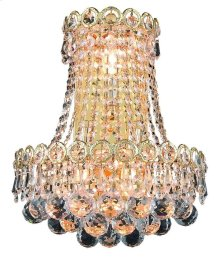 1901 Century Collection Wall Sconce with Neck Gold Finish