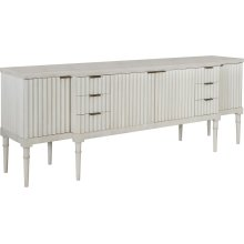 Plaited Buffet Base & Marble Top