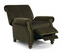 Bay Bridge Fabric Power High-Leg Recliner with Nailhead Trim