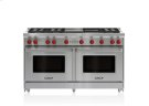 """60"""" Gas Range - 6 Burners, Infrared Charbroiler and Infrared Griddle Product Image"""