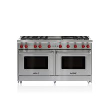 """60"""" Gas Range - 6 Burners, Infrared Charbroiler and Infrared Griddle"""