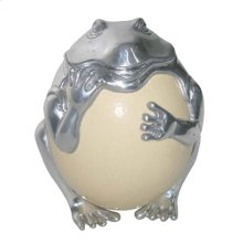 Frog with Ostrich Egg Sculpture