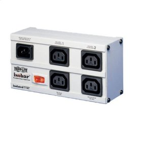 Isobar 4-Outlet 230V Surge Protector, Detachable 6 ft. (1.8 m) Cord, 680 Joules, Metal Housing