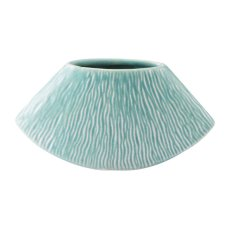 Lineal Short Planter Matte Green Product Image
