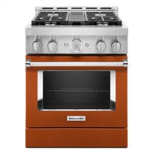 KitchenAidKitchenAid® 30'' Smart Commercial-Style Gas Range with 4 Burners - Scorched Orange