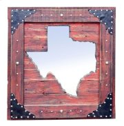 Large Red Texas Mirror Da Product Image
