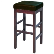 Valencia Backless Leather Bar Stool, Brown