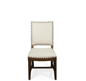 Hawthorne Upholstered Side Chair Barnwood finish