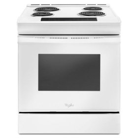Whirlpool® 4.8 cu. ft. Guided Electric Front Control Coil Range - White