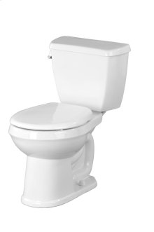 """White Avalanche® 1.6 Gpf 10"""" Rough-in Two-piece Round Front Toilet"""