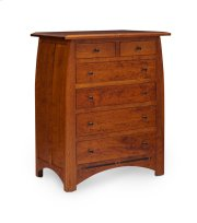 Aspen 6-Drawer Chest with Inlay, Cherry Product Image
