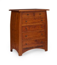 Aspen 6-Drawer Chest with Inlay, Cherry