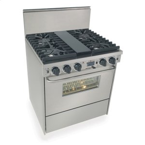"Five Star30"" Dual Fuel, Convect, Self Clean, Sealed Burners, Stainless Steel"