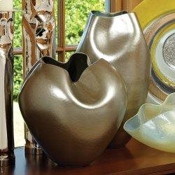 Plait Vase-Silver Haze-Round