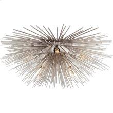 Visual Comfort KW4065BSL Kelly Wearstler Strada 6 Light 19 inch Burnished Silver Leaf Flush Mount Ceiling Light