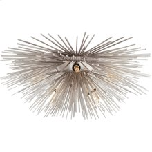 Visual Comfort KW4065BSL Kelly Wearstler Strada 6 Light 19 inch Burnished Silver Leaf Flush Mount Ceiling Light