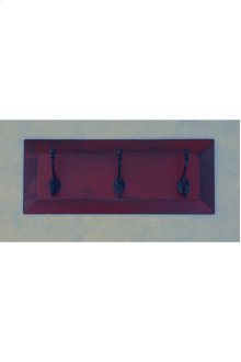 3-Hook Panel Coat Rack - Vintage Berry over Black