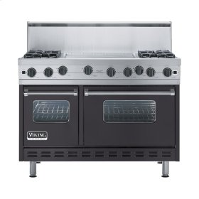 "Graphite Gray 48"" Open Burner Range - VGIC (48"" wide, four burners 24"" wide griddle/simmer plate)"