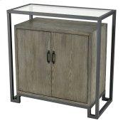 Mezzanine 2-door Cabinet In Pewter