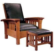 Tight Seat, Oak Bow Arm Morris Chair