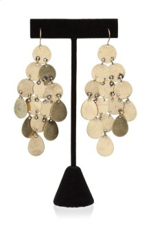 BTQ Gold Disc Earrings